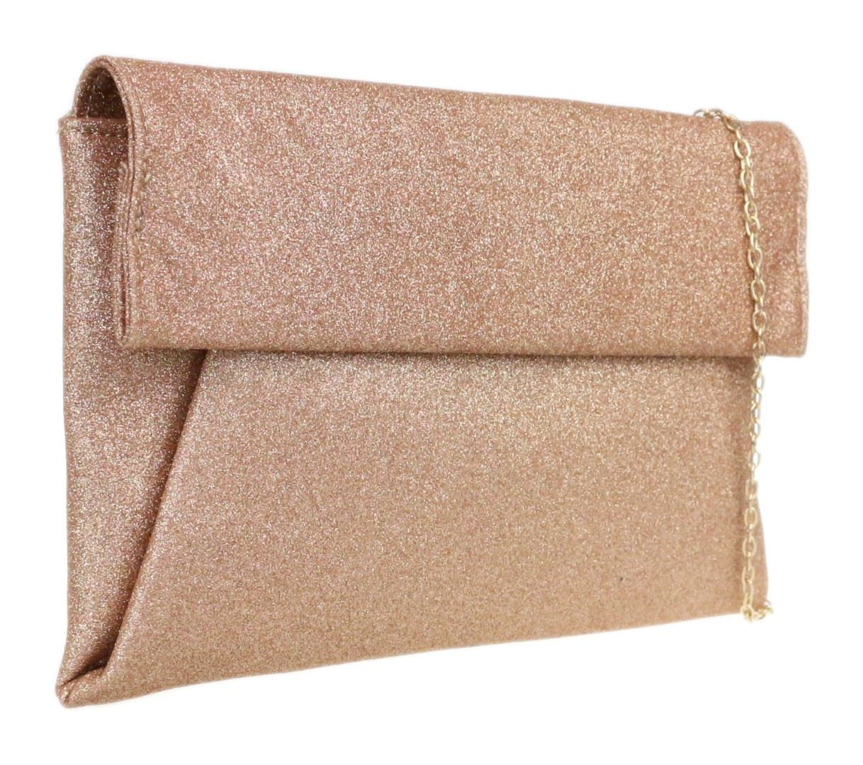rose gold clutch bag