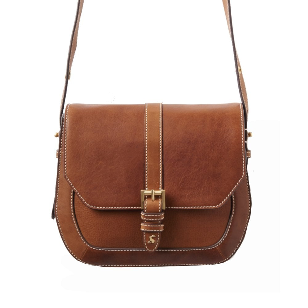 tan leather cross body bag