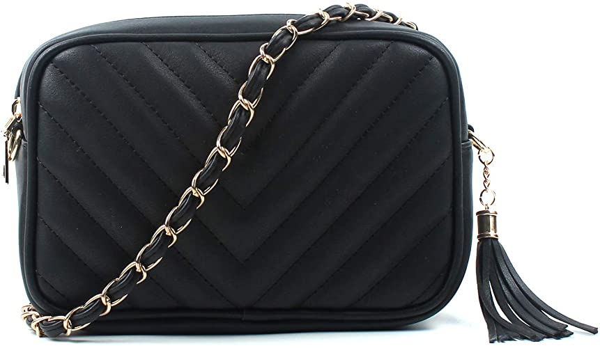 womens black cross body bag